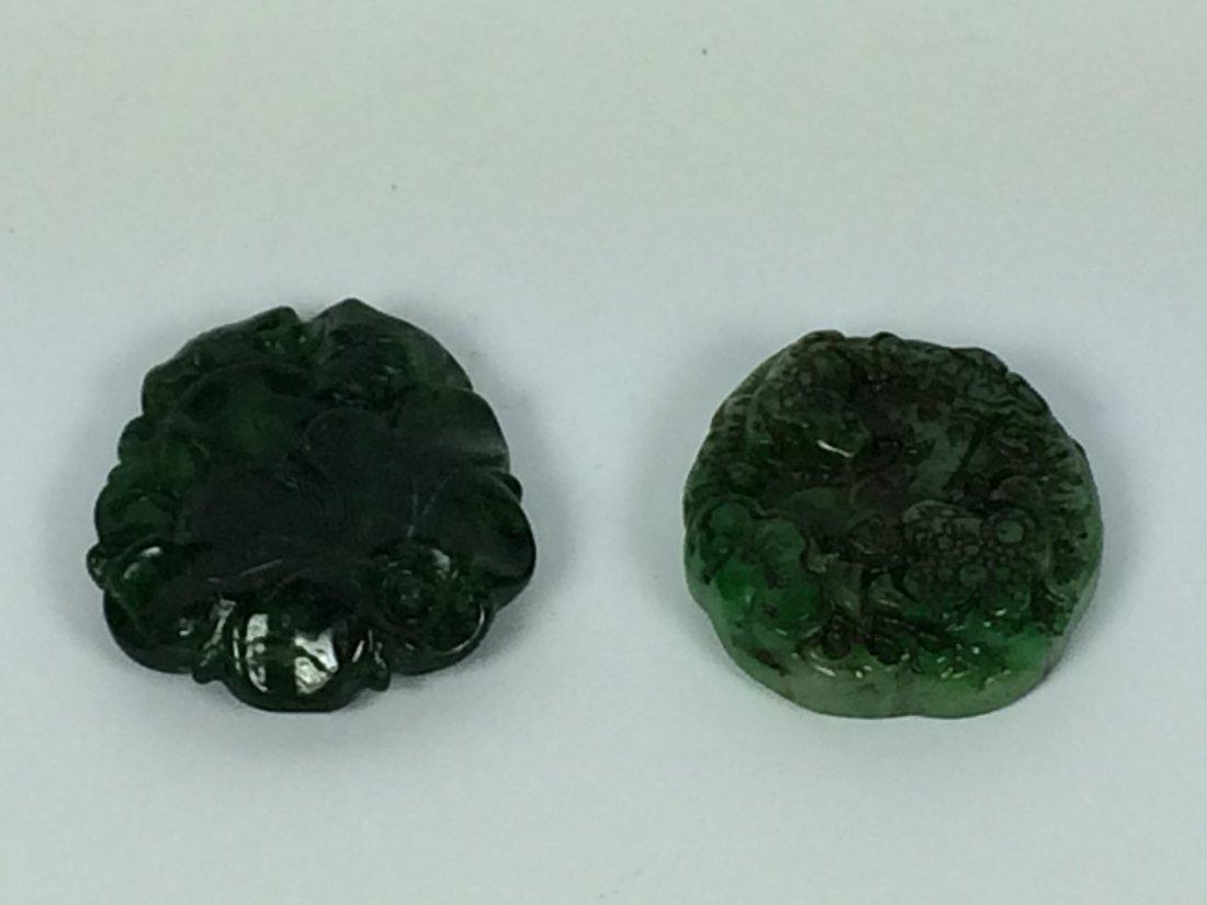 2 Pcs. Carved Jade Pendant