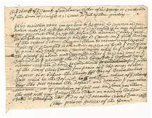 1726 Colonial American Summons