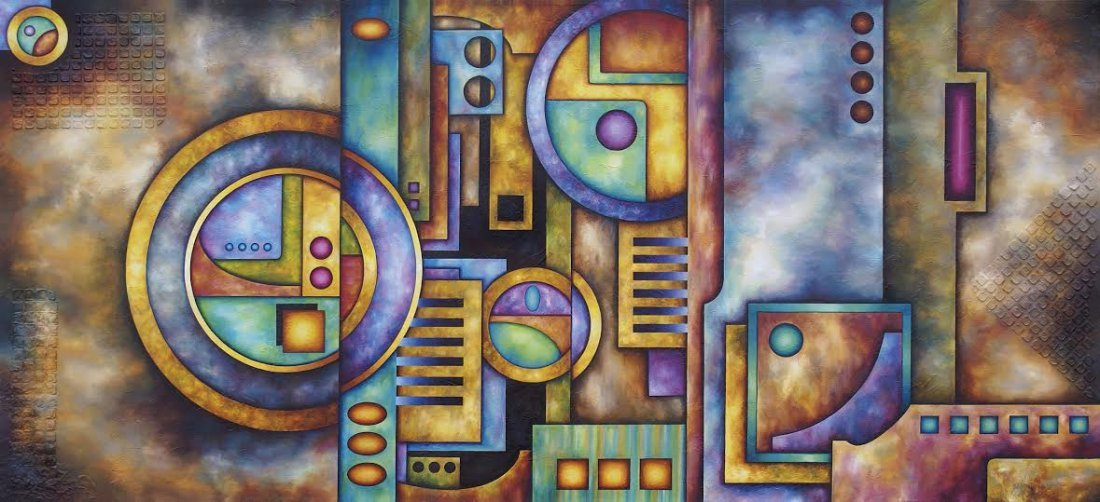 Space & Time Odyssey-Mixed Media Original by Roman