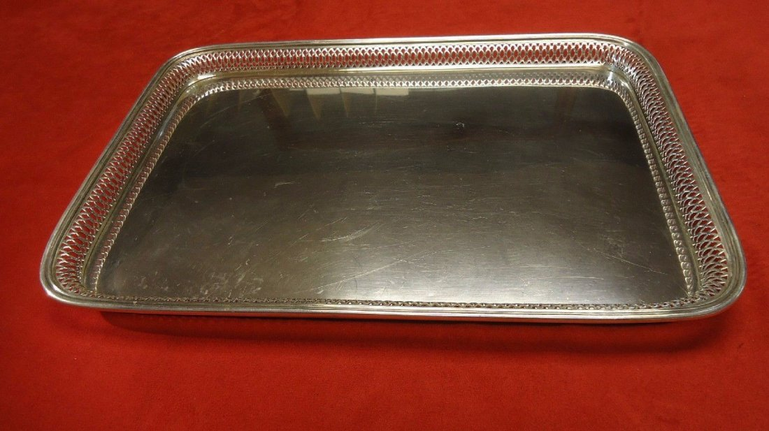 Buccellati sterling large gallery tray