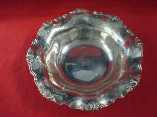 """Tiffany Sterling 11"""" fruit bowl engraved swags"""