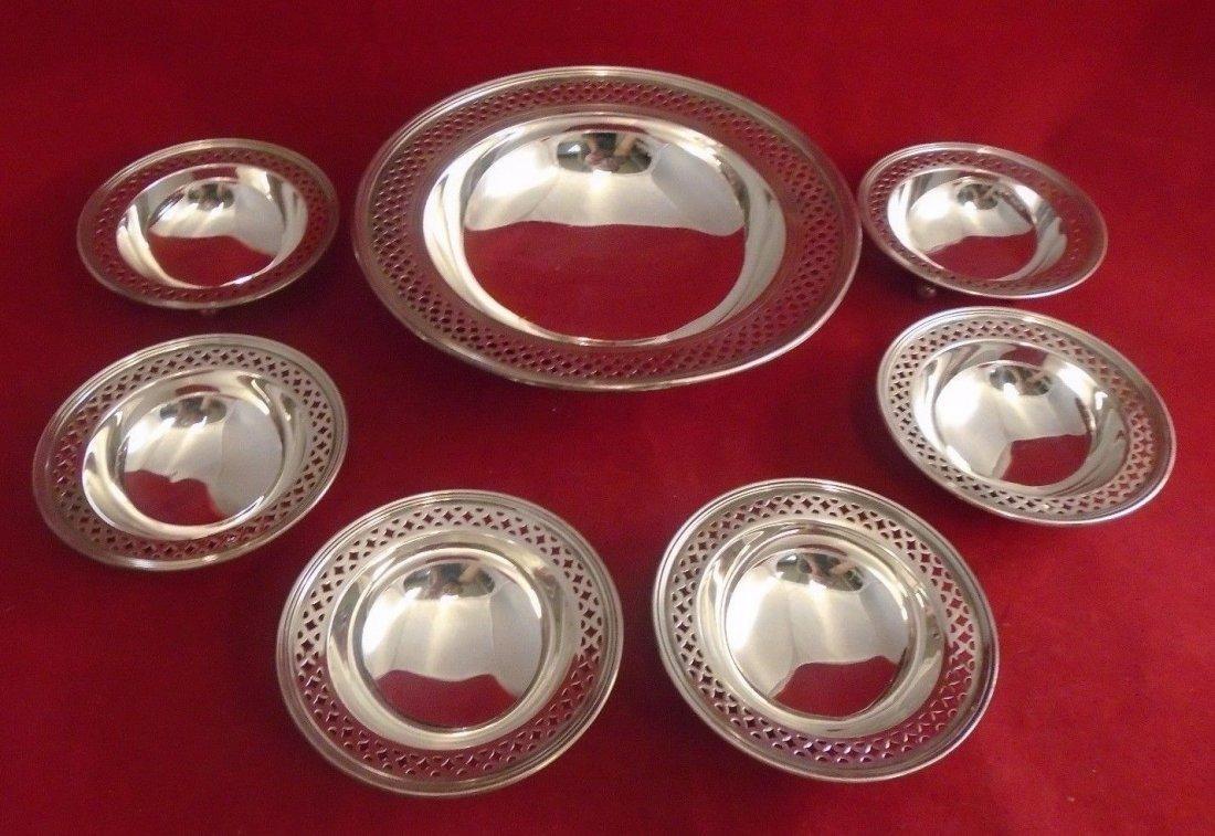 Tiffany Sterling 7 pc Nut/Mint Bowl set