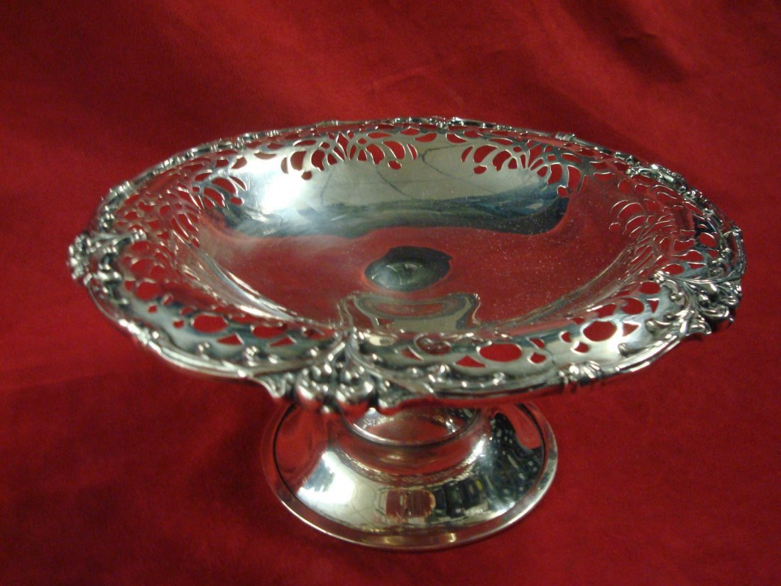 Unger Sterling Tazza with pierced rim