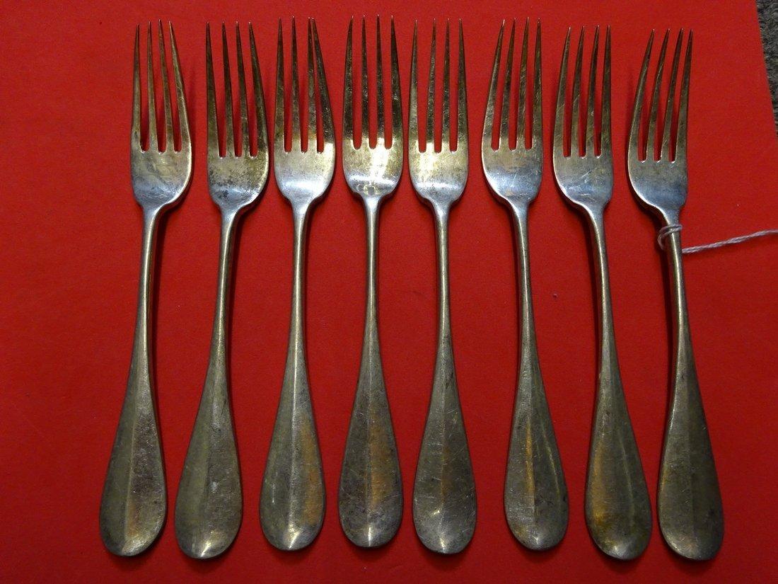 Russian silver set of 8 desert forks