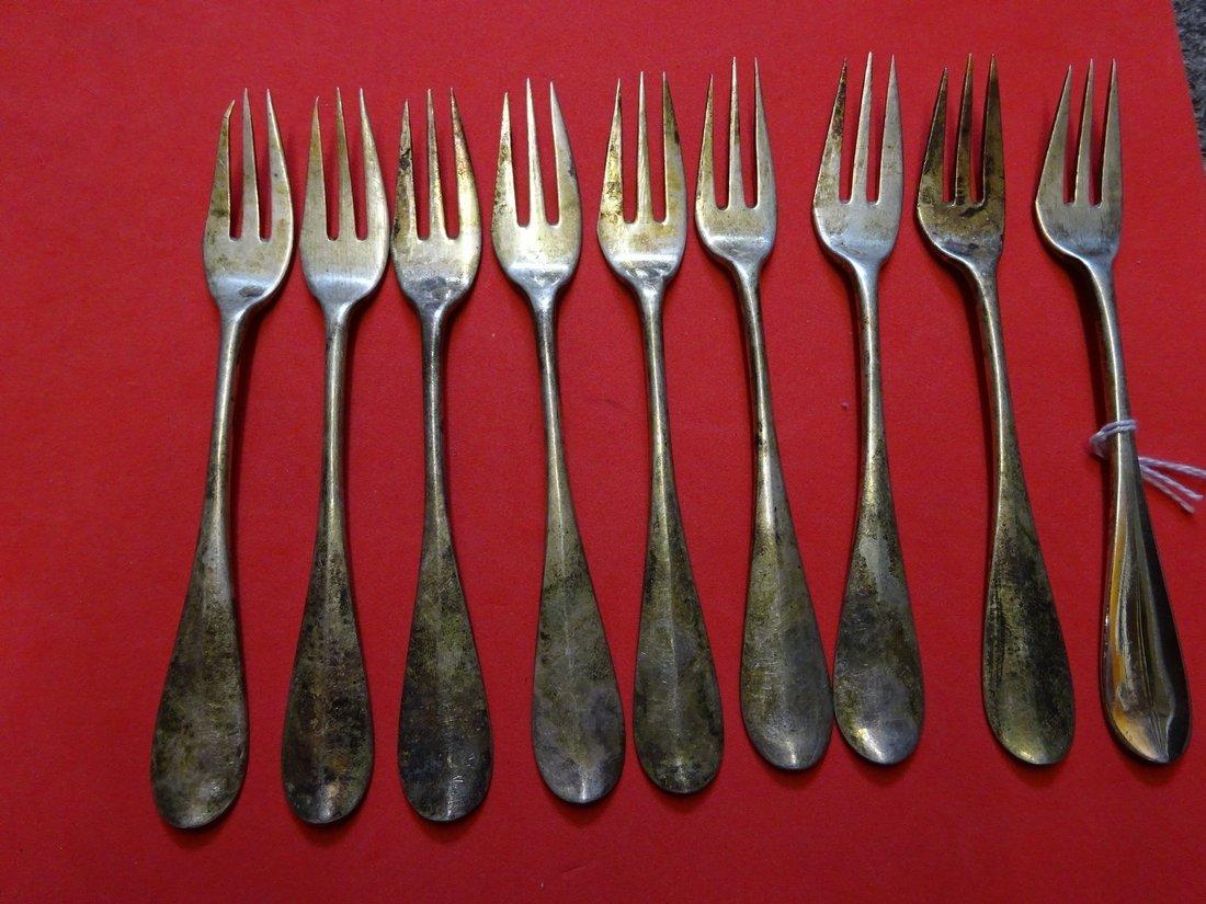 Klebnikov Russian silver 9 oyster forks