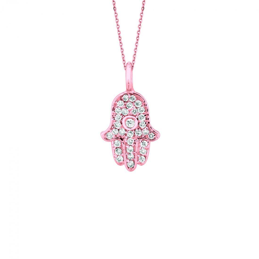 Diamond hand of god necklace