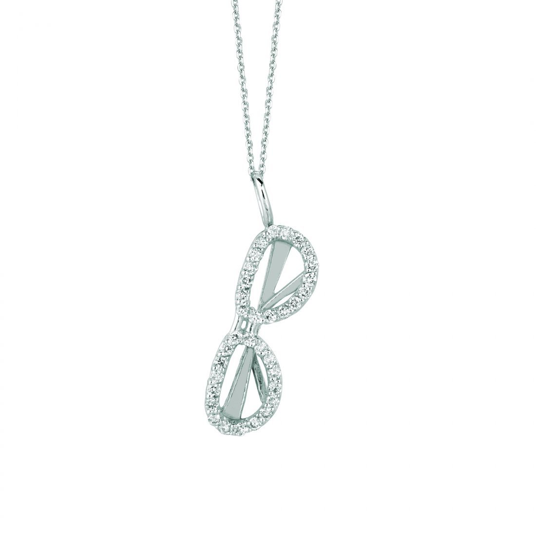 Diamond sunglass necklace