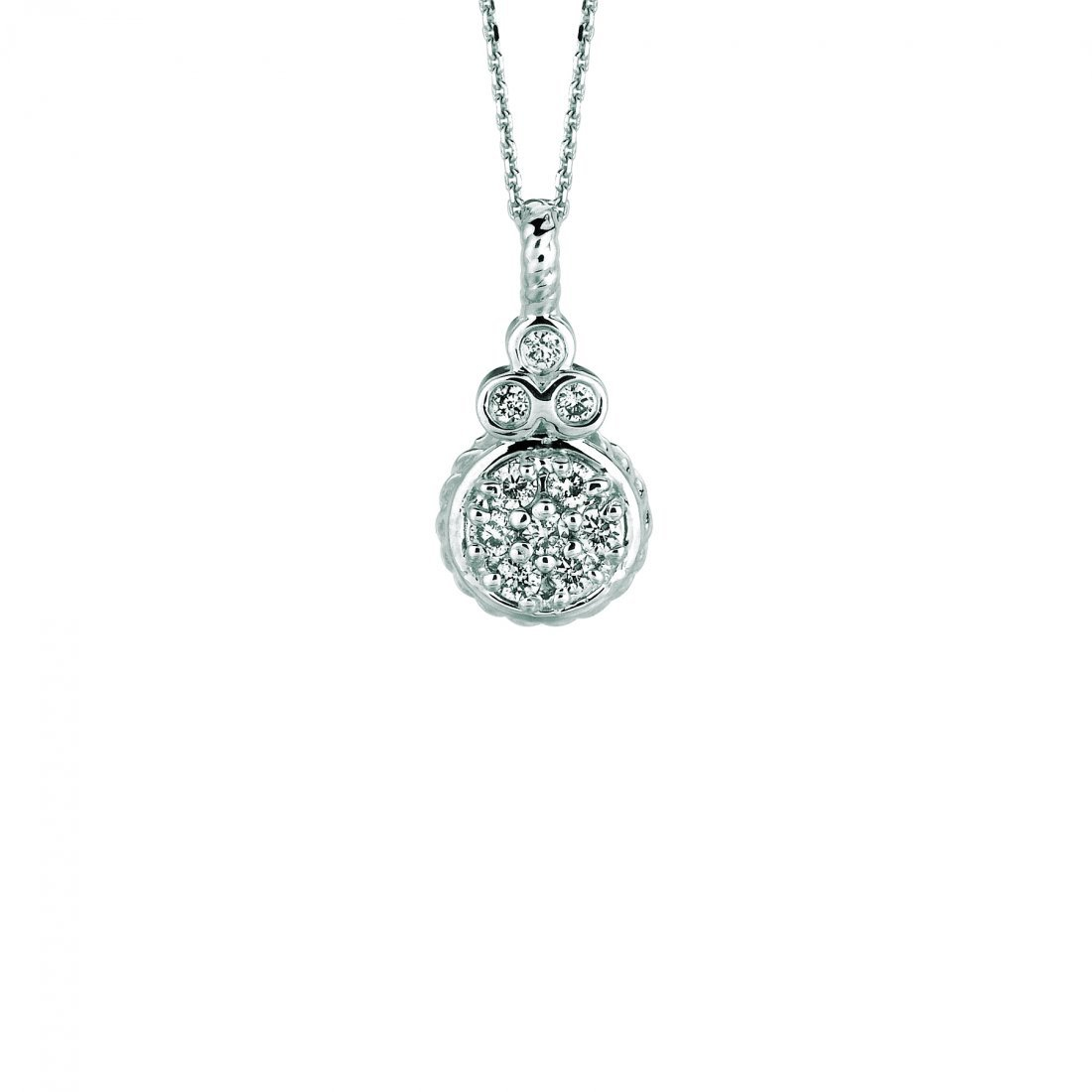 Diamond round necklace