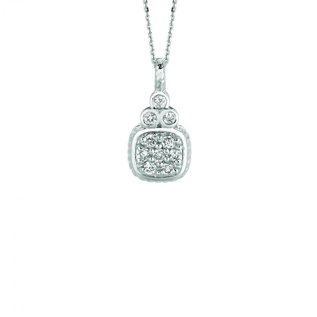 Diamond square necklace