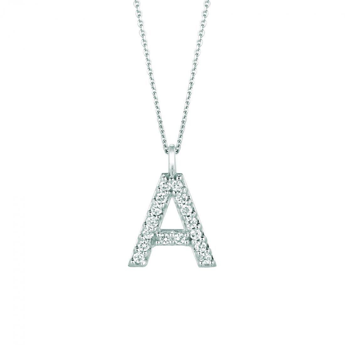Diamond A necklace