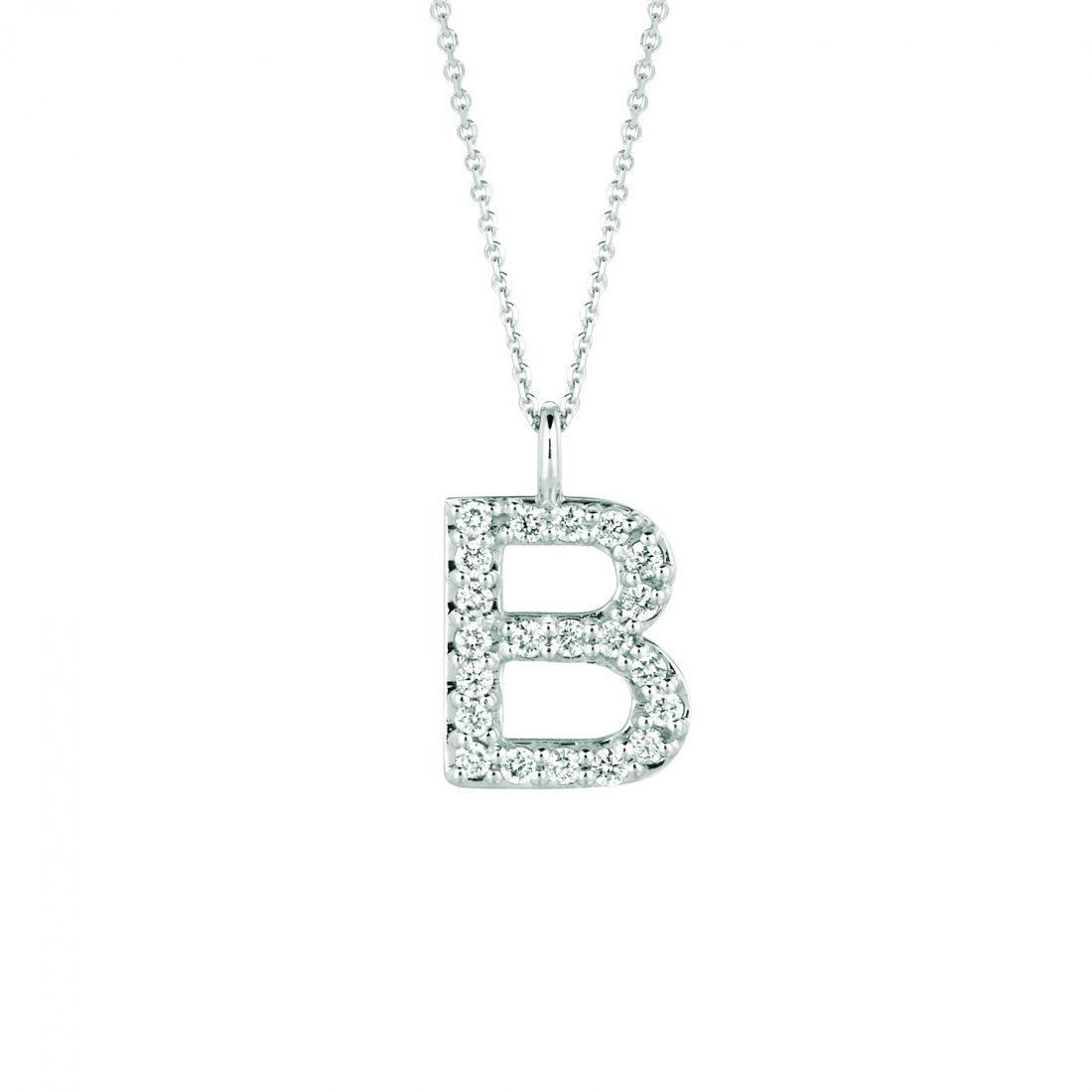 Diamond B necklace