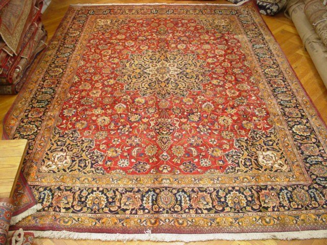 """Large 13'.6""""x10'.0"""" Persian Esfahan 1980s washed clean"""