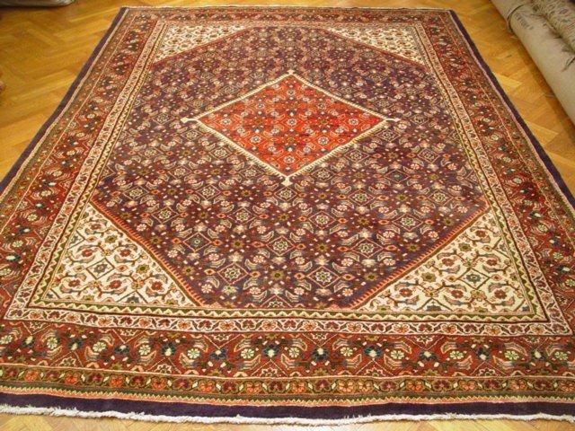 "Geometric design 12'.8""x9'.3"" Persian Tabriz circa"