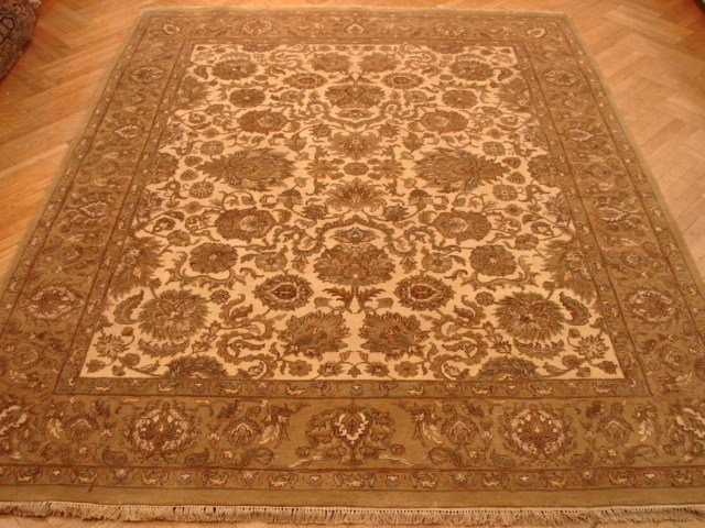 Plush pile fine wool 10'x8' Agra rug extremely durable