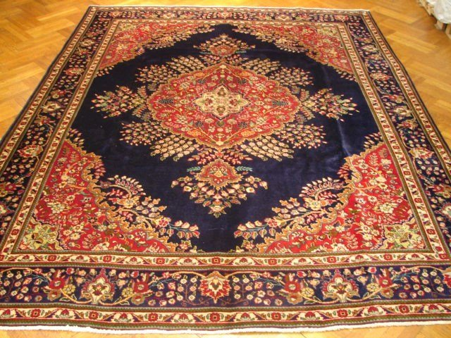 European design 13'x10' Persian Tabriz carpet circa