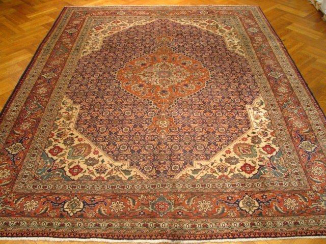 "Fine quality 12'.6""x9'.7"" Persian Tabriz Mahi Lamb"