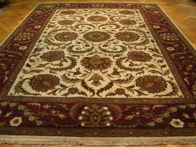 Silky plush pile fine wool 14'x10' Agra ne carpet