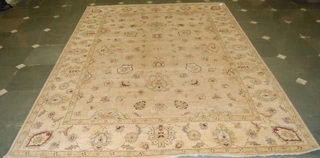 """Antique textured 12'.5""""x9'.0 fine Ziglar Chobi rug"""