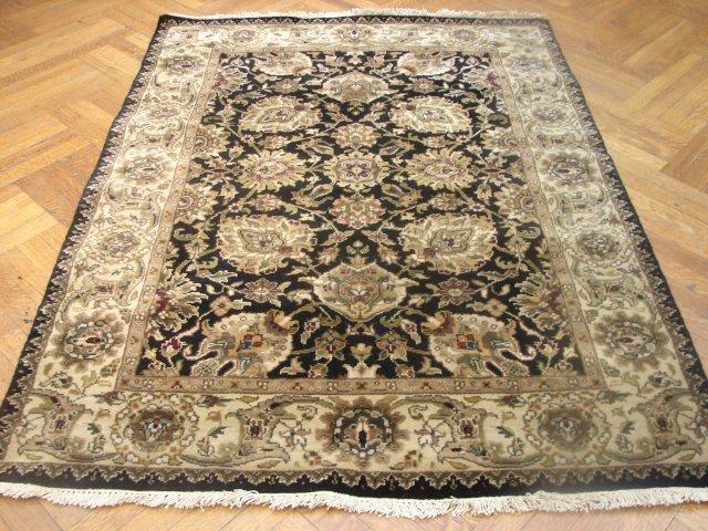 Plush pile 6'x4' Silky wool Jaipur carpet
