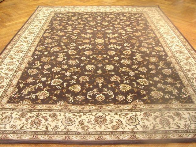 Silk & wool 12'x9' Sino Persian Tariz Tufed carpet