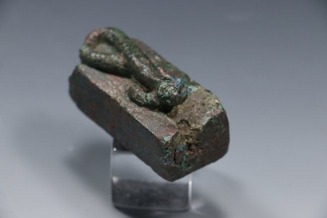 Egyptian Bronze Lizard Coffin ca. Late Period -