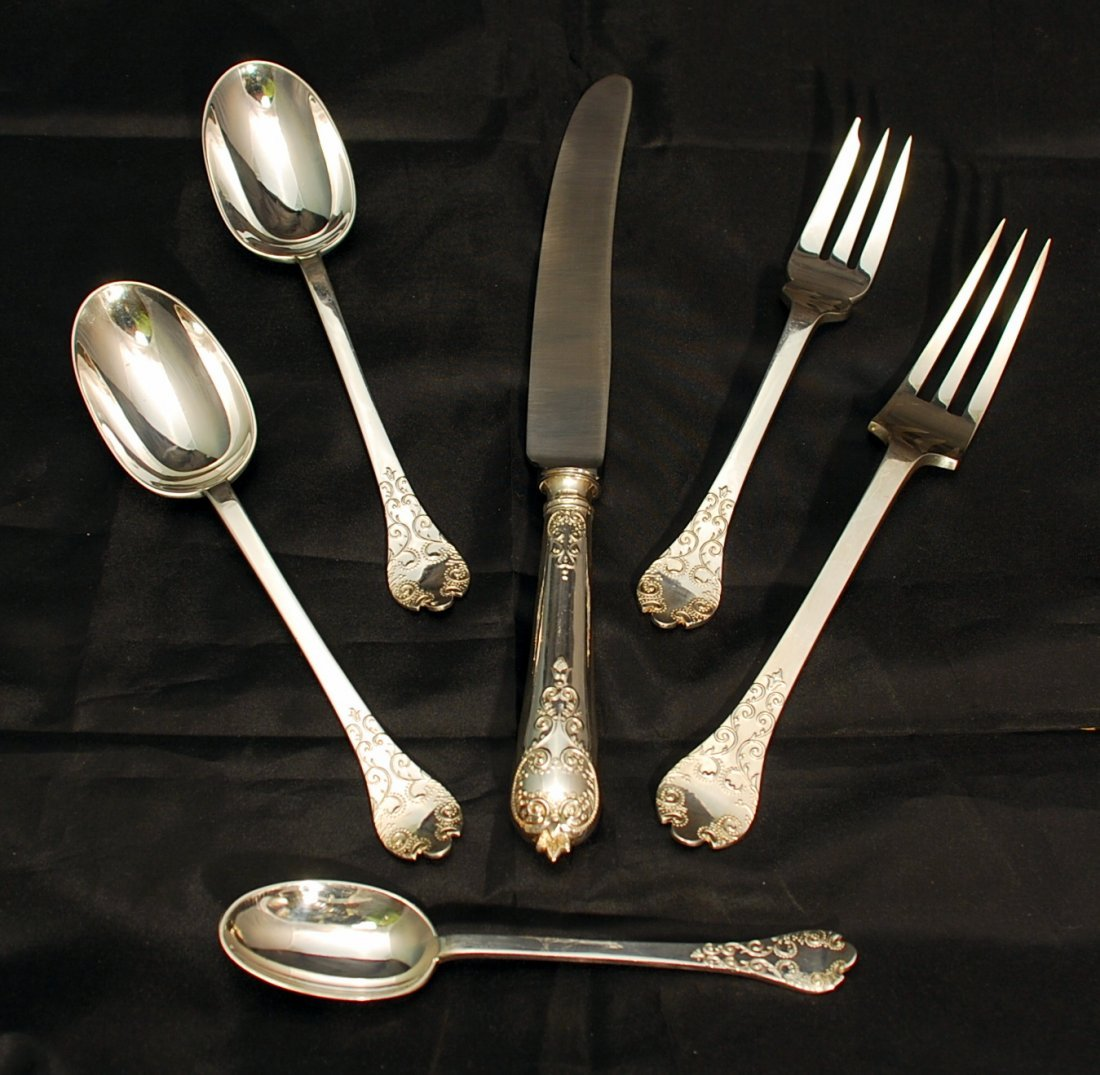 CJ Vander William and Mary Sterling Silver Flatware