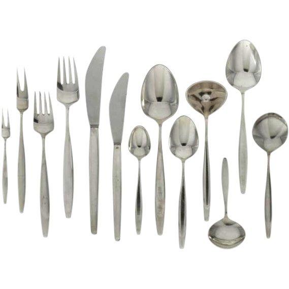 Set of Georg Jensen Sterling Silver Flatware 153 pieces