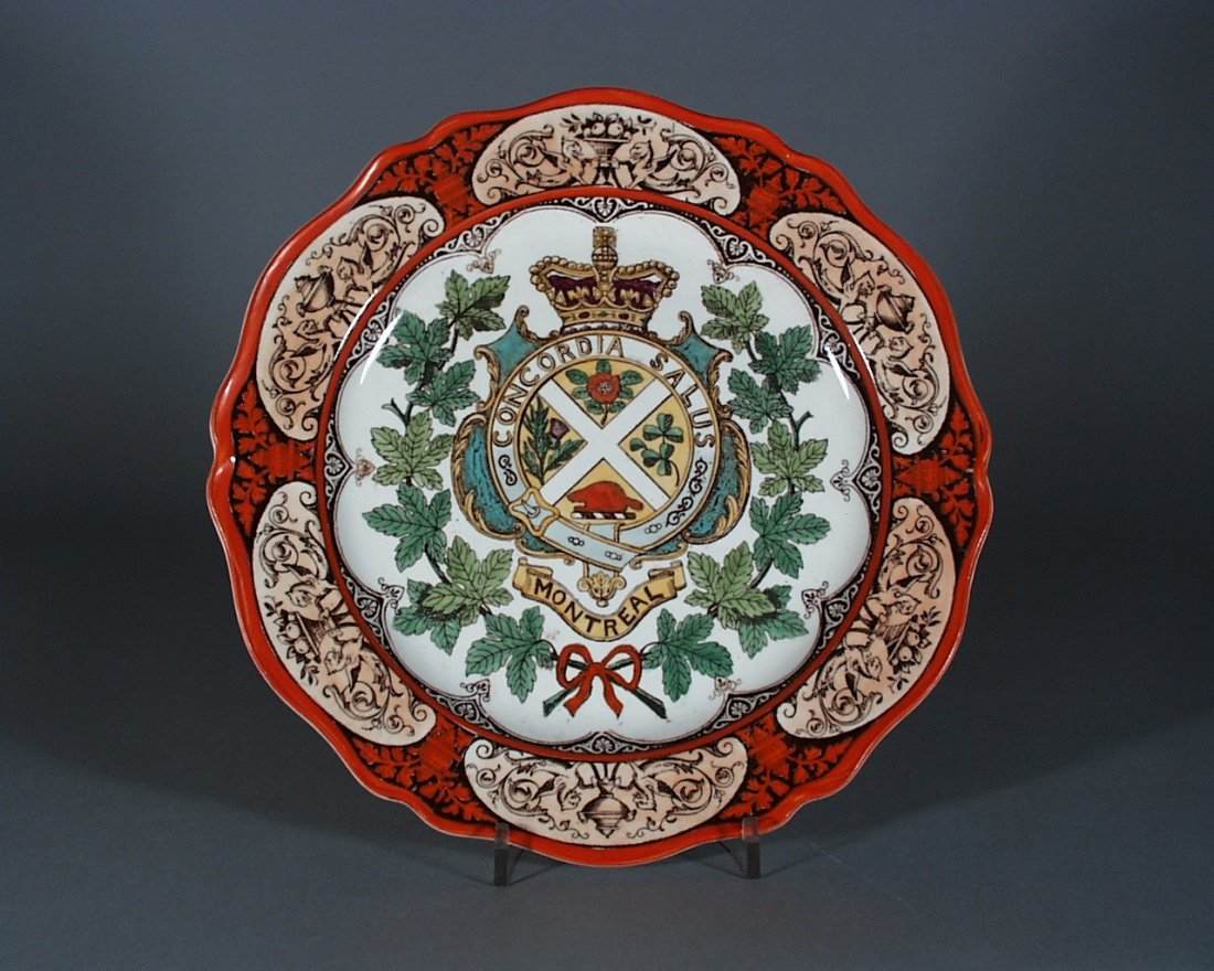 A Wedgwood Canadian Series Pottery Plate with Coat of