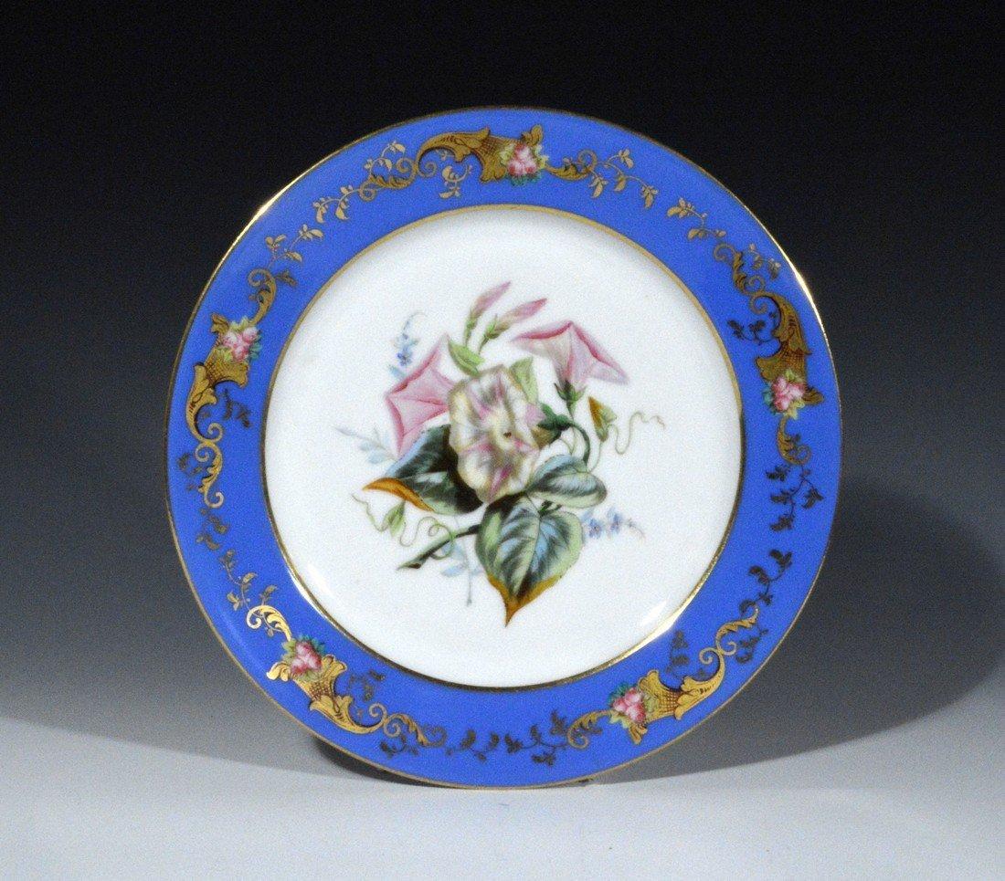 A Set of Six Paris Porcelain Botanical &
