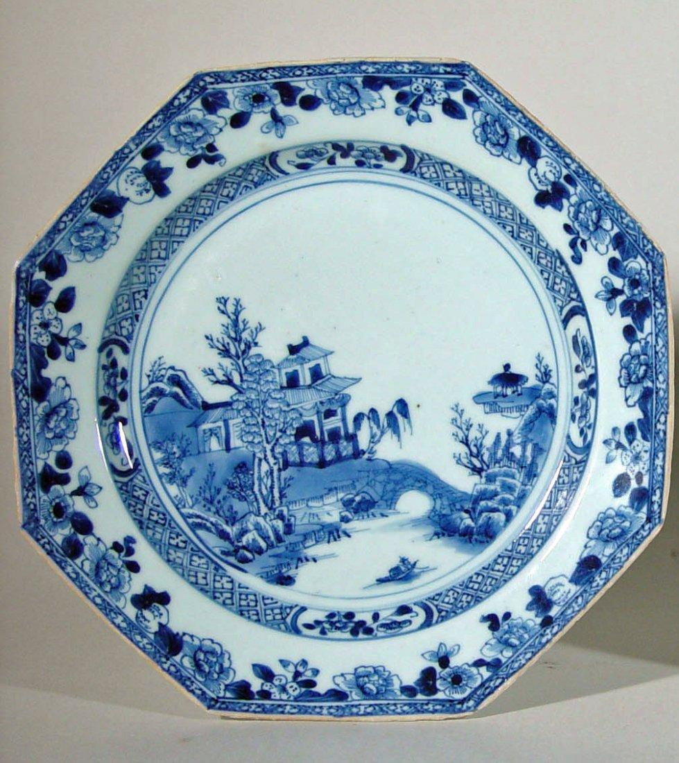 A Chinese Export Underglaze Blue & White Porcelain