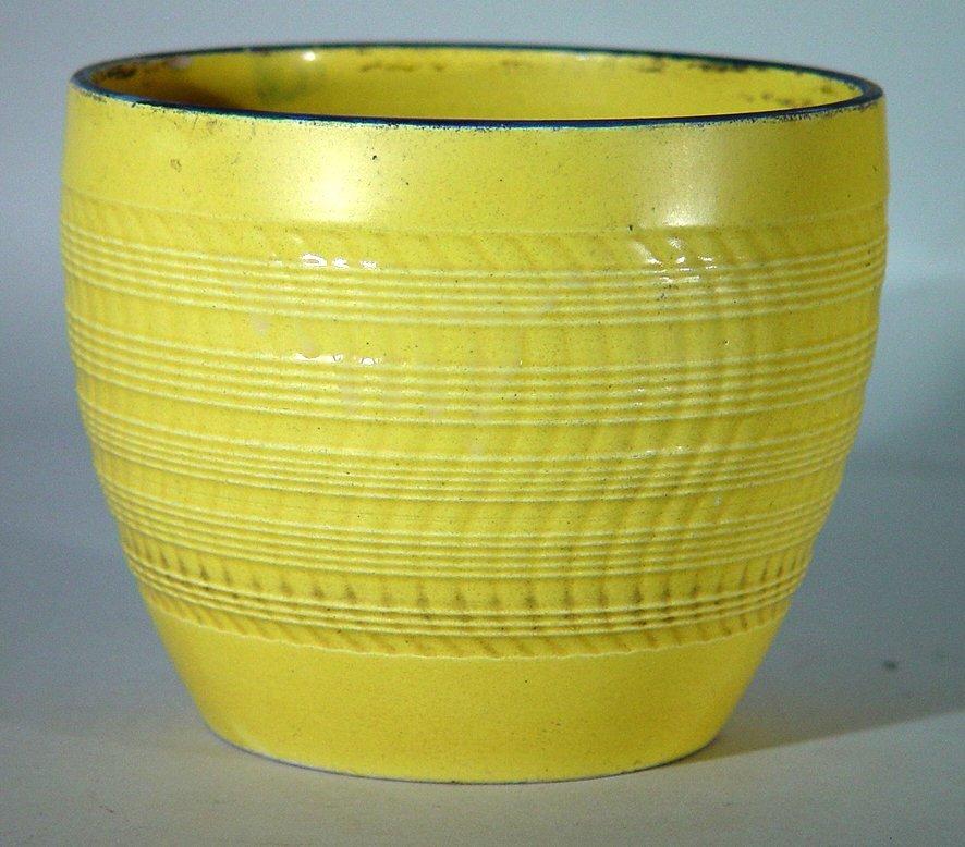 An English Pottery Canary Yellow Jardiniere, Circa