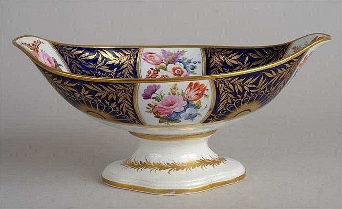An English Porcelain Footed Tazza, Circa 1820