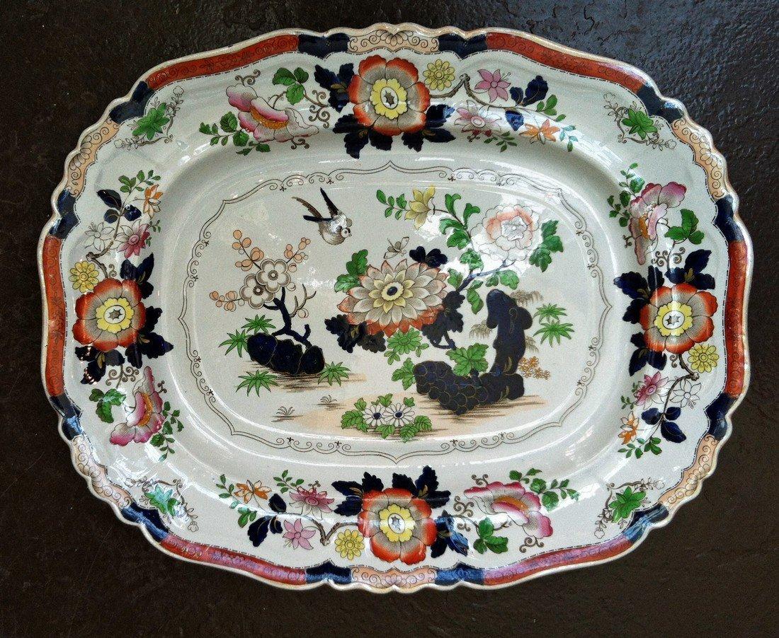 A Large Ashworth Ironstone Dish, Circa 1860-70