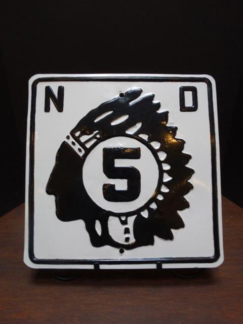 North Dakota Route 5 Marker A860