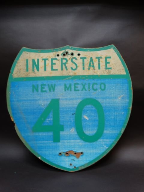 New Mexico Interstate 40 Sign AP483