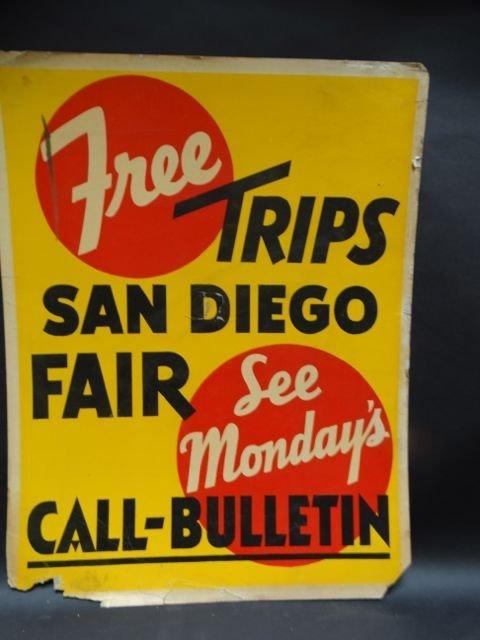 SF Call-Bulletin San Diego Fair Tie-In Poster AP472