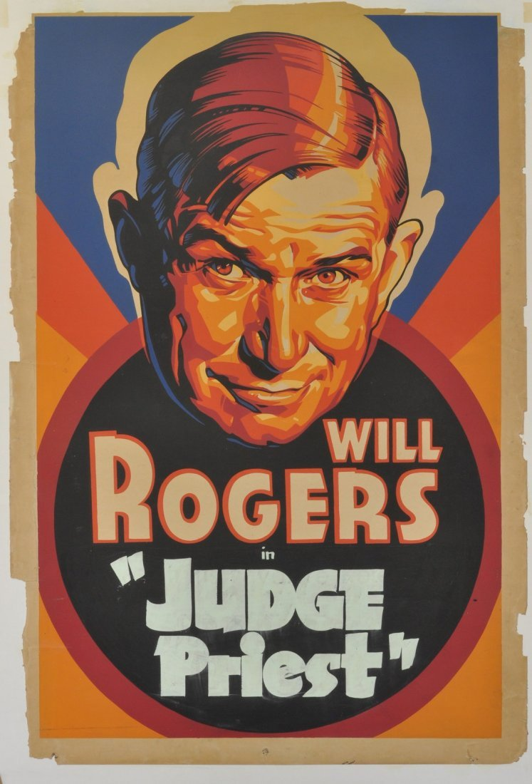 """Will Rogers """"Judge Priest"""" poster AP438"""