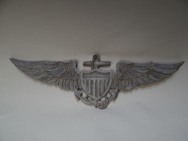 U.S. Naval Aviation Cast-Aluminum Insignia Plaque A619
