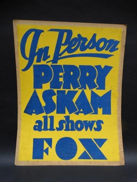 Perry Askam Fox Theater Poster AP453