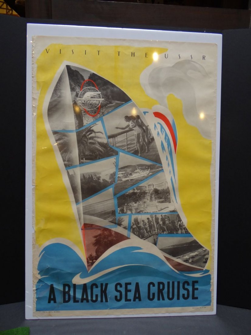 """Advertising Poster """"Visit The USSR-Black Sea Cruise"""""""