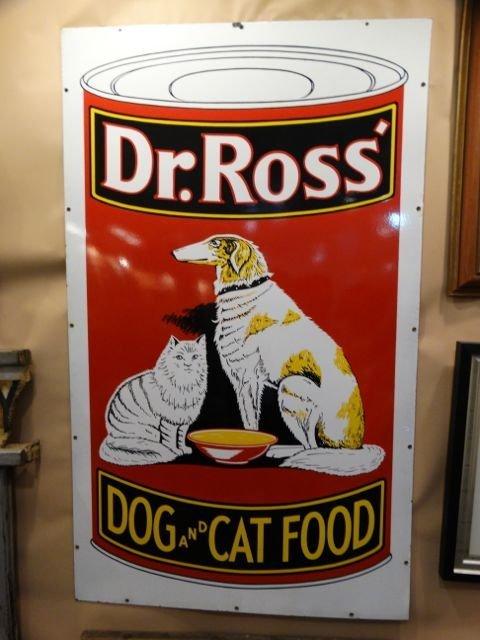 Dr. Ross Dog and Cat Food Porcelain Enamel Sign AP495