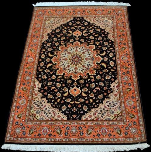 ABSOLUTELY FASCINATING PERSIAN TABRIZ WITH SILK