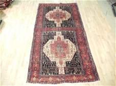 Unusual Twin carpet design 10'x5' antique Persian Kurd
