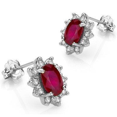 Genuine Ruby & Diamond earring