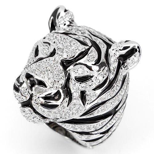 Stunning Cubic Zirconia Tiger Ring