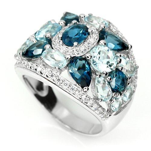 Stunning London Blue Topaz Ring