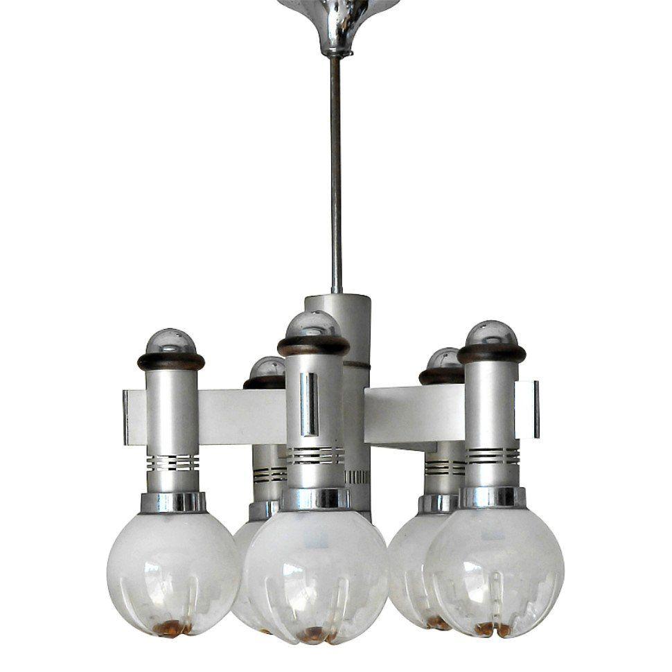 Sciolari with Five Murano Globes Chandelier