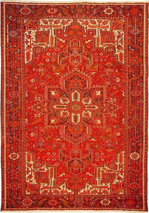 """Persian Rug Heriz Hand Knotted 10'2"""" X 7'2"""""""