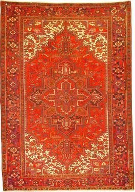 """Persian Rug Heriz Hand Knotted 10'6"""" X 7'4"""""""