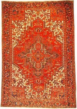 """Persian Rug Heriz Hand Knotted 10'7"""" X 7'3"""""""